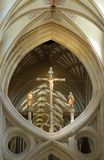Scissor Bogen-Vertiefungs-Kathedrale Stockfotos