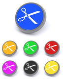 Scissor buttons Royalty Free Stock Photography