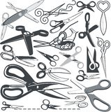 Scissor Collection Stock Image