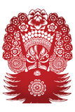 Scissor-cut -Ancient Character from Peking Opera Royalty Free Stock Images