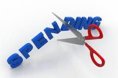 Scissor cut the word spending Royalty Free Stock Image