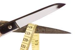 Scissor e fita de medição Fotos de Stock