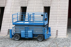 Scissor Lift. At Outdoor Place Stock Photo