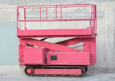 Scissor Lift. Self propelled Scissor Lift with caterpillar wheel Royalty Free Stock Images
