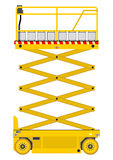 Scissor lift. Self propelled scissor lift isolated on white background. Vector Stock Photos
