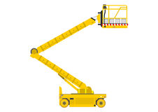 Scissor lift. Self propelled scissor lift isolated on white background. Vector royalty free illustration