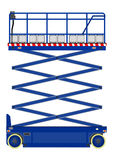 Scissor o elevador ilustração royalty free