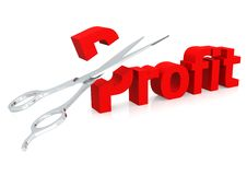 Scissor and profit Stock Image