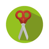 Scissor school supply icon Stock Photo