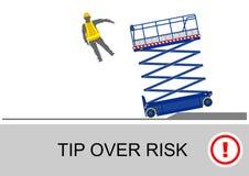 Scissor a segurança do elevador ilustração do vetor
