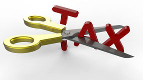 Scissor and tax Stock Images