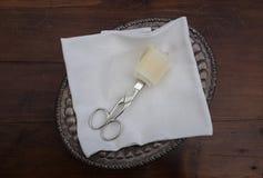 Scissor und Band für Einweihung stockfoto