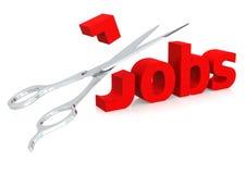 Scissor und Jobs Lizenzfreie Stockbilder