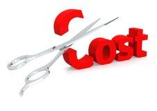 Scissor und kosten Sie Lizenzfreie Stockfotos