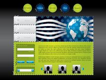 Scissored web template Stock Photography