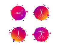 Scissors иконы Символ парикмахера или парикмахерскаи вектор бесплатная иллюстрация