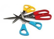 scissors канцелярские принадлежности стоковые изображения