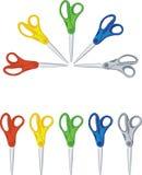 Scissors 1. Scissors round set in color stock illustration
