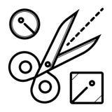 Вектор значка ножниц бесплатная иллюстрация