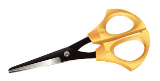 Scissors. Graceful scissors for needlework - a close up Royalty Free Stock Photos