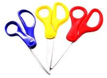 Scissors. 3 colorful scissors stock illustration