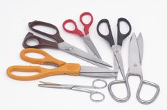 Scissors. Various scissors stock photos