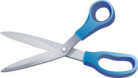 Scissors. Vector illustration. The isolated object Stock Images