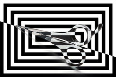 Scissors. Isolated on stripped background Royalty Free Stock Photo