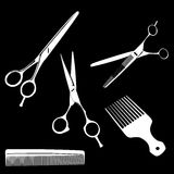 Scissors adnd combs Royalty Free Stock Image