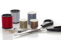 Scissors And Thread Stock Photo