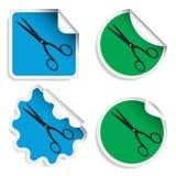 Scissors Aufkleber lizenzfreie abbildung