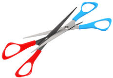 The scissors battle Royalty Free Stock Image