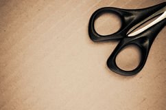 Scissors with black handle Stock Images