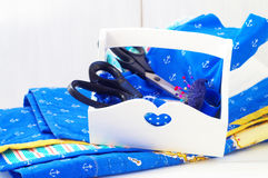 Scissors in the box Stock Photo
