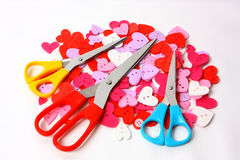 Scissors and buttons Royalty Free Stock Photography