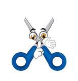 Scissors cartoon Royalty Free Stock Photography