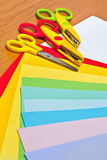 Scissors for children's art Royalty Free Stock Photo