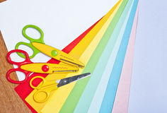 Scissors for children's art Royalty Free Stock Photography