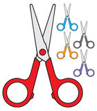 Scissors. Childrens scissors, scissors for kids Royalty Free Stock Image