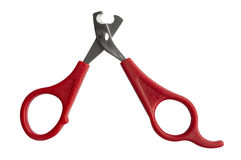 Scissors for claws for pets (dogs, cats, rabbits). Isolated on white background Stock Photography