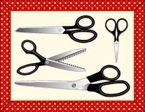 Scissors Collection, Includes seamless tile Royalty Free Stock Photos