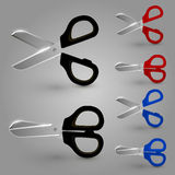 Scissors color set Stock Photos