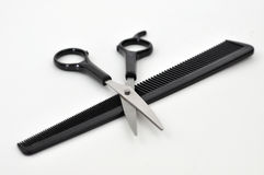Scissors and Comb Stock Images