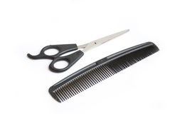 Scissors and comb Stock Photography