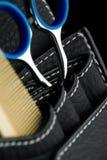 Scissors and comb Stock Photos