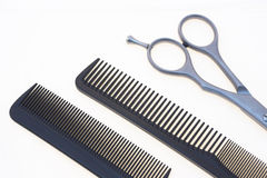 Scissors and comb Stock Photo