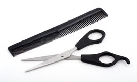 Scissors and comb Stock Image