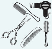Scissors and Comb for hair Royalty Free Stock Photo