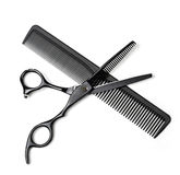 Scissors and comb Royalty Free Stock Image