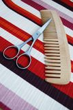 Scissors and comb Royalty Free Stock Images